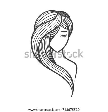 Beauty Hair Vector Illustration Draw Stock Vector Royalty Free