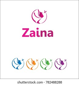 beauty hijab logo design template element. vector logotype