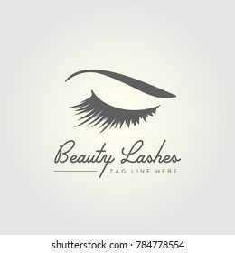 Beauty Lashes eye vector logo