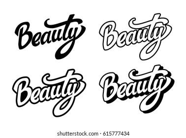 Beauty lettering set
