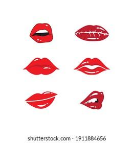 Beauty lips women illustration logo vector design