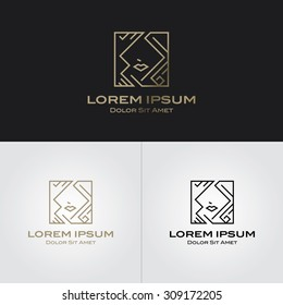 Beauty logo design template