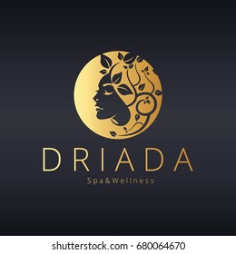 Beauty logo. Driada logotype
