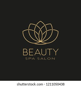 Beauty logo. An elegant logo for beauty, spa, fashion  related business. Vector illustration.