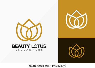 Beauty Lotus Flower Creative Logo Design. Modern Idea logos designs Vector illustration template
