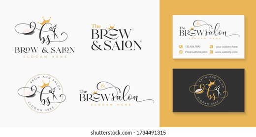 Beauty Makeup Logo Collection Template