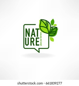 beauty of nature doodle organic leave emblem,  frame and logo