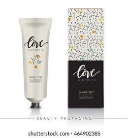 Beauty Product Packaging Template : Vector Illustration