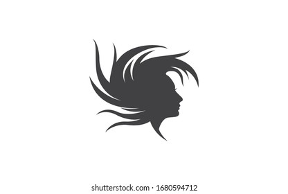 beauty professional woman salon logos, creative graphic design symbol