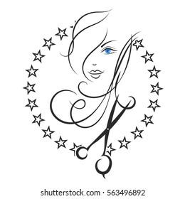 Beauty salon and barber shop business symbol