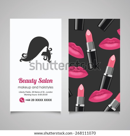 Beauty salon business card design template stock vector royalty beauty salon business card design template with beautiful womans profile colourmoves