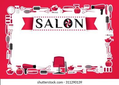 Beauty salon design. Vector illustration