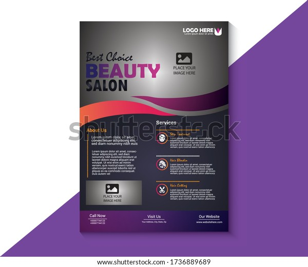 Beauty Salon Flyer Template from image.shutterstock.com
