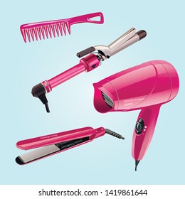 Hair Styling Tools High Res Stock Images Shutterstock