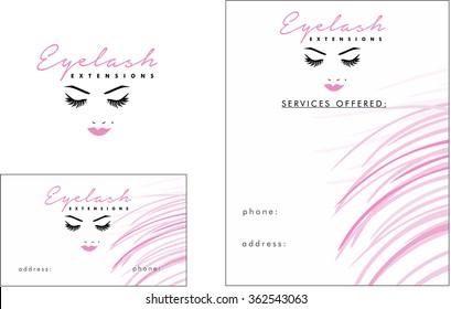 Beauty Salon Logo, Business Card, Flyer  Design