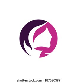 Beauty salon sign Branding Identity Corporate vector logo design template Isolated on a white background
