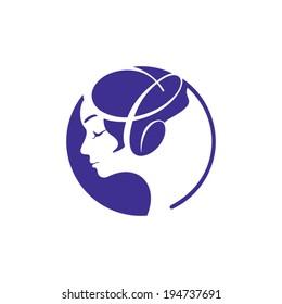 Unisex logo images stock photos vectors shutterstock for Uniform spa vector