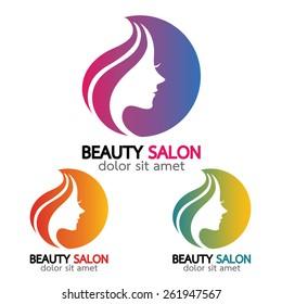 Beauty salon sign Branding Identity Corporate vector logo design template.- vector illustration