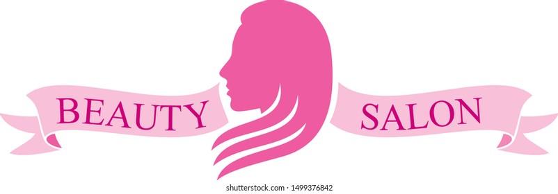 beauty salon symbol (haircut or hair salon design)