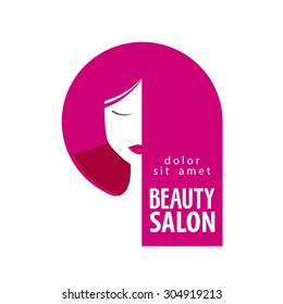 Beauty salon vector logo design template. Girl, woman or hair salon, barbershop icon