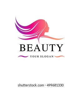 Beauty salon vector logo design template.