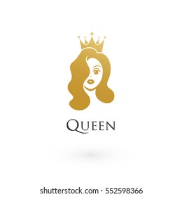 beauty, sexy queen wearing crown logo
