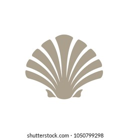 Beauty Simple Silhouette Shell / Oyster / Scallop logo design inspiration
