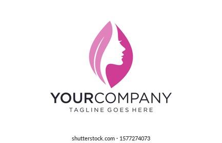 Beauty skin care logo design vector
