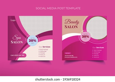 Beauty Spa salon Template Design For Social Media Post