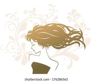 beauty treatment salon silhouette woman