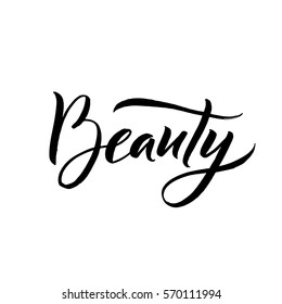 Beauty Typography Square Poster. Vector lettering. Calligraphy phrase for gift cards, scrapbooking, beauty blogs. Typography art.