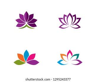 Beauty Vector flowers design logo Template icon - Vector