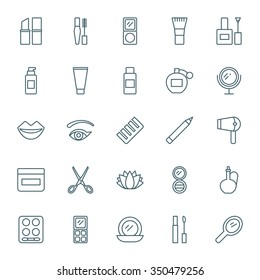 Beauty vector icons set