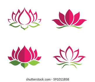 Lotus flower images stock photos vectors shutterstock beauty vector lotus flowers design logo template icon mightylinksfo