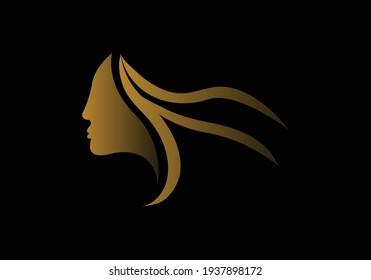 Beauty Woman Logo. Vector, Illustration.