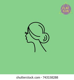 beauty woman silhouette line icon