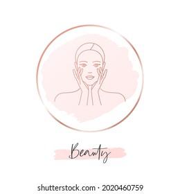 Beauty woman social media highlight cover for beauty salon