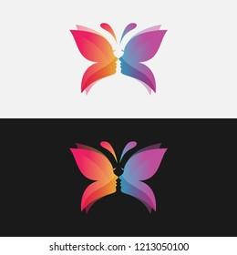 Beauty Women Butterfly Logo