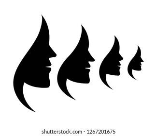Beauty Women Icon Logo Template vector - Vector