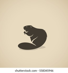 Beaver animal - vector illustration