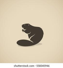 Beaver animal - vector illustration