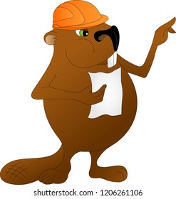 beaver builder in orange helmet with a list in hand