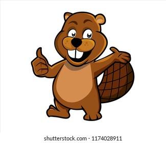beaver cartoon vector