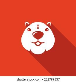 Beaver head icon. Vector Illustration.