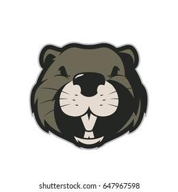 Beaver head mascot