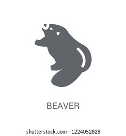 Beaver icon. Trendy Beaver logo concept on white background from animals collection. Suitable for use on web apps, mobile apps and print media.