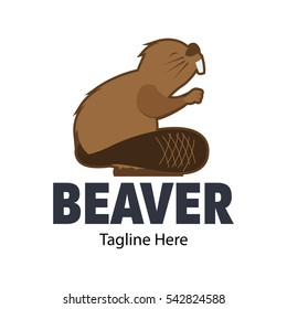 Beaver logo design template