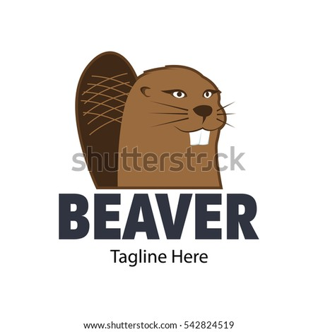 Beaver Logo Design Template Stock Vector Royalty Free 542824519