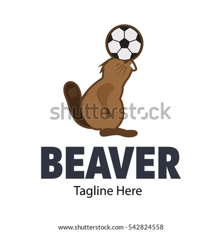 Beaver Logo Design Template Stock Vector Royalty Free 542824558