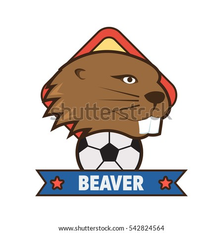 Beaver Logo Design Template Stock Vector Royalty Free 542824564